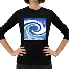 Abstract Waves Women s Long Sleeve T-shirt (Dark Colored)