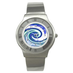 Abstract Waves Stainless Steel Watch (Slim)