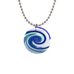 Abstract Waves Button Necklace