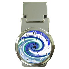 Abstract Waves Money Clip with Watch
