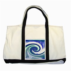 Abstract Waves Two Toned Tote Bag