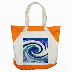 Abstract Waves Accent Tote Bag
