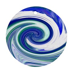Abstract Waves Round Ornament (Two Sides)