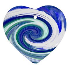 Abstract Waves Heart Ornament (Two Sides)