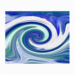 Abstract Waves Glasses Cloth (small, Two Sided)