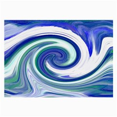Abstract Waves Glasses Cloth (Large, Two Sided)