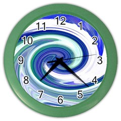 Abstract Waves Wall Clock (Color)