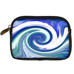 Abstract Waves Digital Camera Leather Case