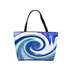 Abstract Waves Large Shoulder Bag