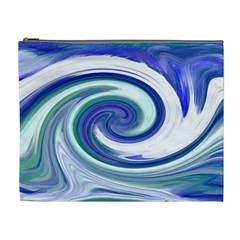 Abstract Waves Cosmetic Bag (XL)
