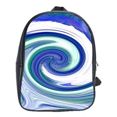 Abstract Waves School Bag (Large)