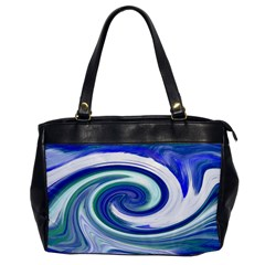 Abstract Waves Oversize Office Handbag (one Side)