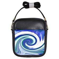 Abstract Waves Girl s Sling Bag