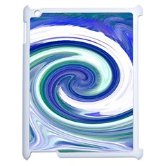 Abstract Waves Apple iPad 2 Case (White)