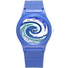 Abstract Waves Plastic Sport Watch (Small)