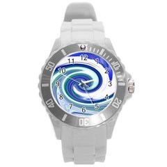 Abstract Waves Plastic Sport Watch (Large)