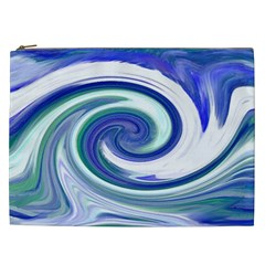 Abstract Waves Cosmetic Bag (XXL)