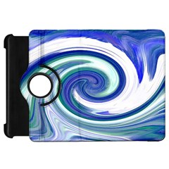 Abstract Waves Kindle Fire Hd 7  (1st Gen) Flip 360 Case