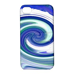 Abstract Waves Apple Iphone 4/4s Hardshell Case With Stand