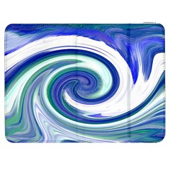 Abstract Waves Samsung Galaxy Tab 7  P1000 Flip Case
