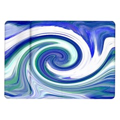 Abstract Waves Samsung Galaxy Tab 10.1  P7500 Flip Case