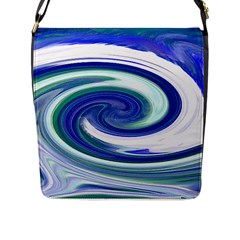 Abstract Waves Flap Closure Messenger Bag (Large)