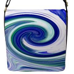 Abstract Waves Flap Closure Messenger Bag (Small)