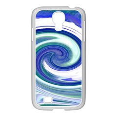 Abstract Waves Samsung Galaxy S4 I9500/ I9505 Case (white)