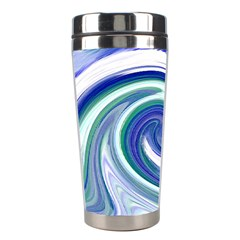 Abstract Waves Stainless Steel Travel Tumbler