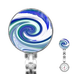 Abstract Waves Stainless Steel Nurses Watch