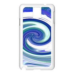 Abstract Waves Samsung Galaxy Note 3 N9005 Case (White)