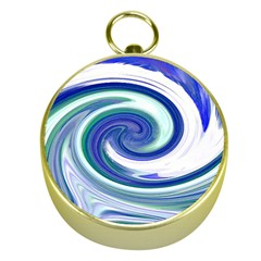 Abstract Waves Gold Compass
