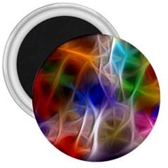 Fractal Fantasy 3  Button Magnet