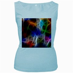 Fractal Fantasy Women s Tank Top (Baby Blue)