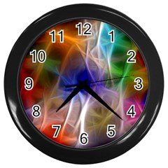 Fractal Fantasy Wall Clock (black)