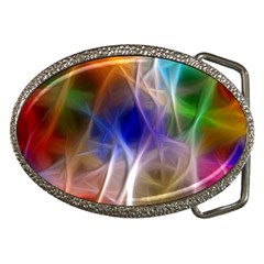 Fractal Fantasy Belt Buckle (Oval)