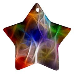 Fractal Fantasy Star Ornament (Two Sides)