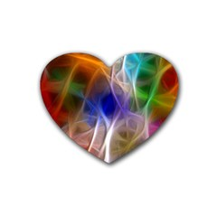 Fractal Fantasy Drink Coasters 4 Pack (Heart)