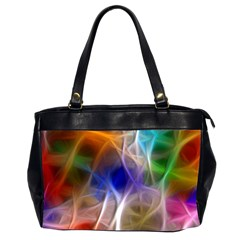 Fractal Fantasy Oversize Office Handbag (Two Sides)