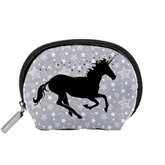Unicorn On Starry Background Mini Zipper Pouch