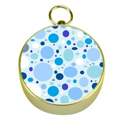 Bubbly Blues Gold Compass