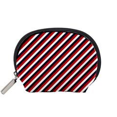 Diagonal Patriot Stripes Mini Zipper Pouch