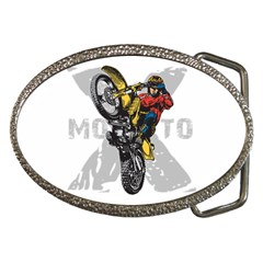 Moto X Wheelie Belt Buckle