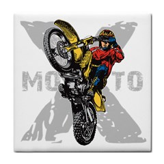 Moto X Wheelie Tile Coaster