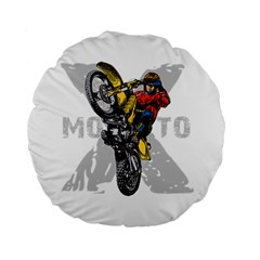 Moto X Wheelie 15  Premium Round Cushion