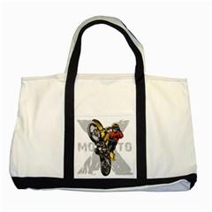 Moto X Wheelie Two Tone Tote Bag