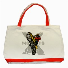 Moto X Wheelie Classic Tote Bag (Red)