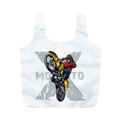 Moto X Wheelie Full Print Recycle Bag (M)