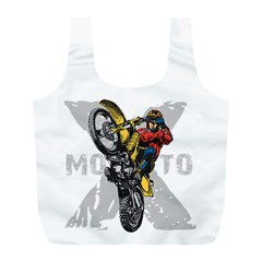Moto X Wheelie Full Print Recycle Bag (l)