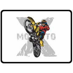 Moto X Wheelie Fleece Blanket (Extra Large)